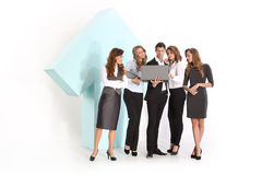 The team formally dressed staff and a symbol of growth Royalty Free Stock Photos