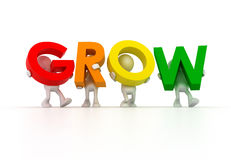 Team forming grow word Stock Image
