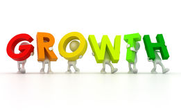 Team forming growth word Stock Photo