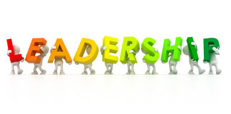 Team forming Leadership word Royalty Free Stock Images