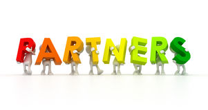 Team forming Partners word Stock Photo