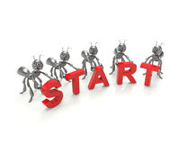 Team forming start word Royalty Free Stock Image