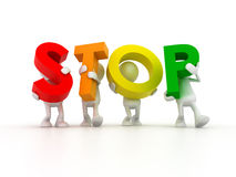 Team forming STOP word Royalty Free Stock Photography