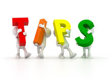 Team forming Tips word Royalty Free Stock Photography