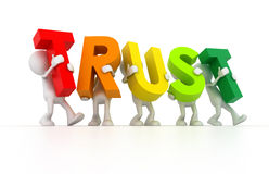 Team forming Trust word Royalty Free Stock Image