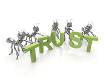 Team forming Trust word Stock Images