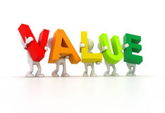 Team forming Value word Royalty Free Stock Images