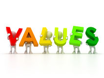 Team forming Values word Royalty Free Stock Photography