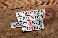 Team friendly assistance  acronym Stock Images