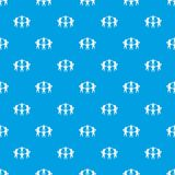 Team or friends pattern seamless blue Royalty Free Stock Photography