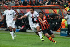 Team game Shakhtar (Donetsk) and Bayer (Leverkusen) Stock Photos