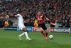 Team game Shakhtar (Donetsk) and Bayer (Leverkusen) Stock Images