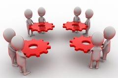 Team-Gangkonzept des Mannes 3d Lizenzfreies Stockfoto