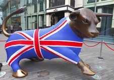 Team GB Bull Olympics 2012 Royalty Free Stock Photography