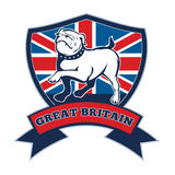 Team GB English bulldog Great Britain mascot Stock Photography