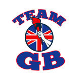 Team GB Hand Holding Torch Great Britain Flag Royalty Free Stock Photo