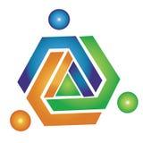 Team geometric logo Royalty Free Stock Photo