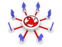Team gerichtet auf Erde. Global. Stockfotos