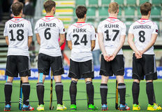Team Germany in line during Hockey World Cup 2014 Royalty Free Stock Photos