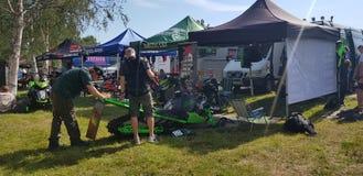 Watercross racing stock image