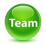 Team glassy green round button Stock Photos
