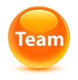 Team glassy orange round button Royalty Free Stock Image
