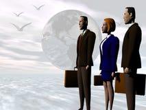 team globala succes för affär till Arkivbilder