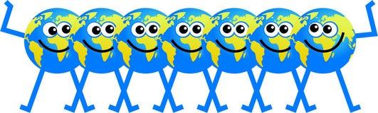 Team globe Royalty Free Stock Image