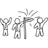 Team goals hand drawing illustration Stock Photo