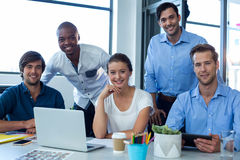 Team of graphic designers working together stock images