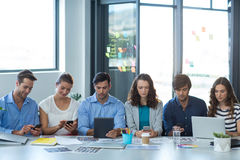 Team of graphic designers working together stock photos