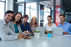 Team of graphic designers working together stock photography