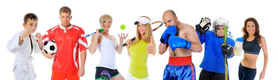 The team of great athletes royalty free stock photo