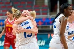 Team Great Britain firar seger över laget Montenegro fotografering för bildbyråer