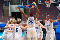 Team Great Britain firar seger över laget Montenegro royaltyfri foto