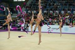 team of Greece on Rhythmic gymnastics Stock Photos