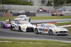 Team Greentech führt Autos in Kurve 2 Stockbild