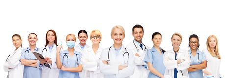 Team of groep artsen en verpleegsters Royalty-vrije Stock Foto's