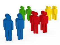 Team group colorful in circle Royalty Free Stock Photo