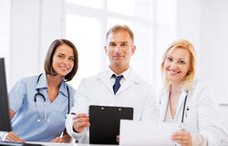 Team or group of doctors on meeting Royalty Free Stock Photo
