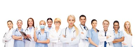 Team or group of doctors and nurses Stock Images