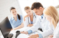 Team or group of doctors working. Picture of young team or group of doctors working Royalty Free Stock Photo