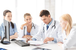 Team or group of doctors working. Picture of young team or group of doctors working Stock Photos