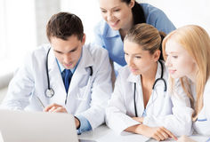Team or group of doctors working. Picture of young team or group of doctors working Royalty Free Stock Photos