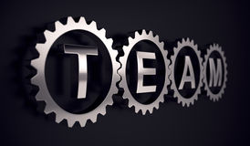 Team group gear partnership cooperation concept Stock Photo