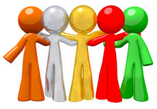 Team Group Togetherness Concept in Success royalty free illustration