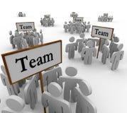 Team Groups Signs People Teamwork ilustración del vector