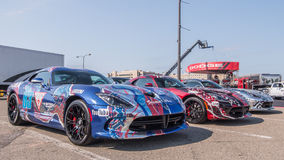 Team Guess Dodge Vipers, Woodward-Droomcruise, MI Royalty-vrije Stock Foto