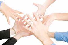 Team-Hände stockbild