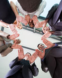 Team hands together Stock Photos